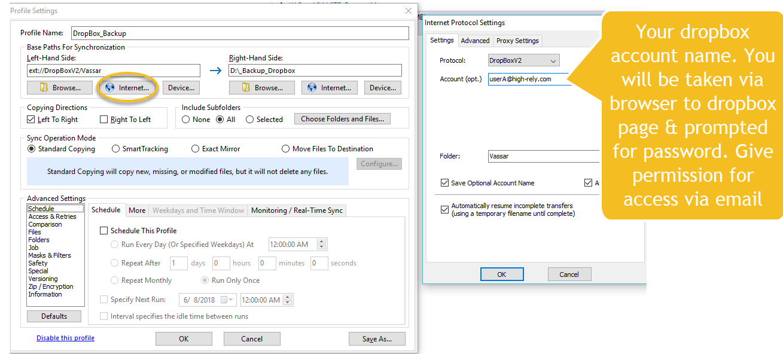 Backup Dropbox